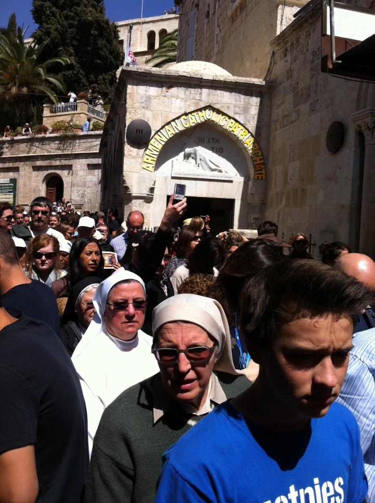 Photo of Procession on the Via Dolorosa